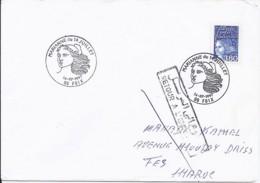 MARIANNE DE LUQUET N°3093 SUR LETTRE DU 14.7.97/FOIX (1° JOUR) POUR LE MAROC - 1997-04 Marianne Du 14 Juillet