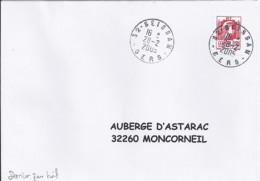 MARIANNE DE LUQUET/ALGER N°3716  SUR LETTRE DU 28.02.05 / DERNIER JOUR TARIF - 1944 Coq Et Marianne D'Alger