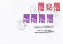 MARIANNE DE LUQUET/ALGER N°3716PAIRE + DIVERS  SUR LETTRE DE 2004 - 1944 Coq Et Maríanne D'Alger