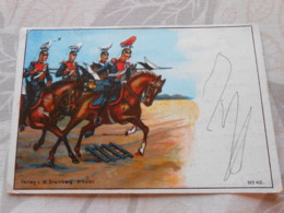 CPA Patriotique Patriotika Guerre 14-18 1wk Ww1 Wk1 Feldpost Militaria  Stempel Cachet Regiment - Guerre 1914-18
