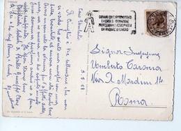 U3741 Targhetta APPRENDISTATO 1958 Su Cartolina  Acquerello Di Grassi: FIRENZE - Storia Postal,e Aquarell, Aquarelle, - 6. 1946-.. Repubblica