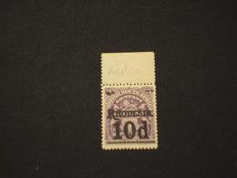 RHODESIA SUD - 1909 STEMMA 10 P.su 3  - NUOVO(++) - Southern Rhodesia (...-1964)