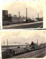 Micheroux - Lot 2 Cartes-photos Union Coopérative Fabrique De Chaussures, Gare, Train - Soumagne