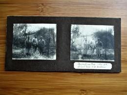 23/41 Photo Stéréoscopique Guerre 14/18 - NOVIANT Aux PRES Mai 1915 Le Lieutl. Pierre Et Ses Secrtaires - Stereo-Photographie