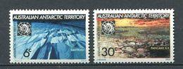 240 AUSTRALIE Territoire Antarctique 1971 - Yvert 19/20 - Neige Iceberg Polaire - Neuf ** (MNH) Sans Charniere - Australian Antarctic Territory (AAT)