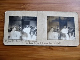 24/41 Photo Stéréoscopique Guerre 14/18 - St. JEAN 2 Juin 1915 Le Leve Dans La Chapelle - Stereo-Photographie