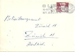 Brief  St.Gallen - Zürich  (Flagge OLMA)          1955 - Suisse