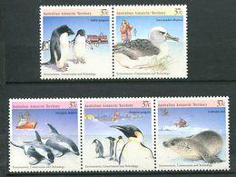 240 AUSTRALIE Territoire ANTARCTIQUE 1988 - Yvert 79/83 - Oiseau Pingouin Dauphin Phoque - Neuf ** (MNH) Sans Charniere - Australian Antarctic Territory (AAT)