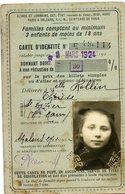 Photobooth  Photo Identité Carte Reduction Transport Sncf Train 20s 1924 RARE Jeune Fille Young Girl ROLLIN - Cartes