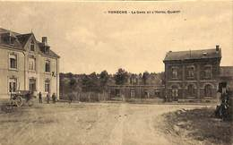 Voneche - La Gare Et L'Hôtel Quinet (animée, Travaux, Nelson, Edit. G. Constant Paulet) - Beauraing