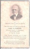 Souvenir Décès Henri Paul Arthur Louis Marie De La Goublaye Comte De Nantois. La Guyomarais. 1940. - Faire-part
