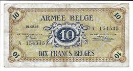BELGIQUE - BELGIUM - ARMEE BELGE - BELGISCH LEGER - 10 F - [ 4] Occupation Belge De L'Allemagne