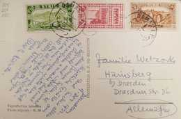 Syria Syrie 1932 Beautifully Franked Postcard To Germany - Syria