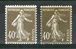 N° 193*_Types I Et II_2 Nuances_2 Papiers - 1906-38 Sower - Cameo