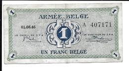 BELGIQUE - BELGIUM - ARMEE BELGE - BELGISCH LEGER - 1 F - [ 4] Occupation Belge De L'Allemagne