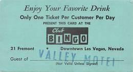 Club Bingo Downtown Las Vegas, NV - Free Drink Ticket - Advertising
