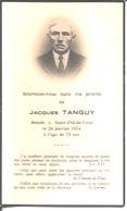 Souvenir De Jacques Tanguy. Décédé à Saint Pol De Léon En 1954. - Faire-part