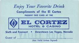 El Cortez Hotel & Casino - Las Vegas, NV - Free Drink Coupon - Advertising