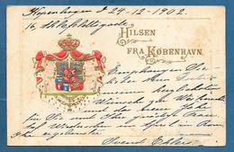 HILSEN FRA KOBENHAVN 1902 - Danimarca