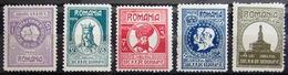 ROUMANIE                  N° 319/323                   NEUF* - Unused Stamps