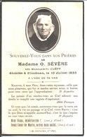 Souvenir Madame O Sévère, Née Marguerite Cuëff Décédée à Plouénan 1933. - Faire-part
