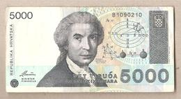 Croazia - Banconota Circolata Da 5000 Dinari - P-24a - 1992 - Croazia