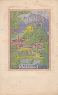 AK Salzburg - Hohensalzburg - Gewebtes Bild - Materialkarte Textil  Stoff - Ca. 1910  (37792) - Salzburg Stadt