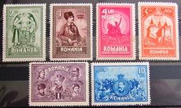 ROUMANIE                  N° 365/370                   NEUF* - Unused Stamps
