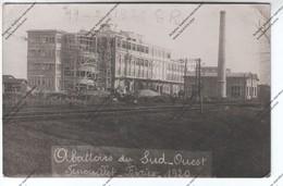 Exceptionnelle Carte Photo FENOUILLET (31) : Construction Abattoirs Du Sud-Ouest 19 Février 1920 (saucisson Mireille) - France