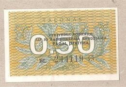 Lituania - Banconota Circolata Da 0,50 Talonas - P-31b - 1991 - Lituanie