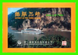 THE THREE GORGES, CHINE - THE CHANG JIANG RIVER CHART - DIMENSION 22 X 16 Cm - - Chine