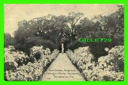 FERNANDINA, FL - ROSE GARDEN, DUNGENESS CARNAGIE'S WINTER RESIDENCE - TRAVEL IN 1912 - - Vereinigte Staaten