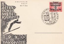 Deutsches Reich General Gouvernement Postkarte 1940 Zakopane - Occupazione 1938 – 45