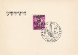 Deutsches Reich General Gouvernement Postkarte 1940 Tag Des Fuhrers - Occupazione 1938 – 45