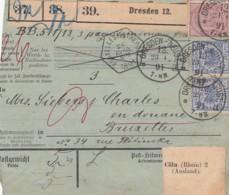 Deutsches Reich Paketkarte 1891 - Allemagne