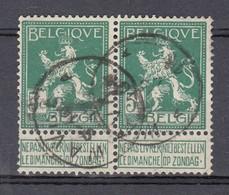 110 In Paar Gestempeld WAVRE - COBA 8 Euro - 1912 Pellens