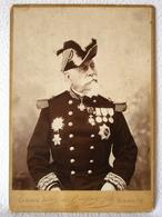 Authentique Ancien Photo Du Général De Pierre De Bernis Officier Militaire Français Du XIXe Par Victor De Buifson Fils - Photographs