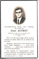 Souvenir De Jean Autret Décédé En 1970. Photo Piriou Saint Pol De Léon. - Faire-part