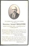 Souvenir De Joseph Quillévéré Décédé En 1951 à Saint Pol De Léon. - Faire-part
