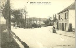78 MANTES La VILLE La Route De Quarante Sous Maupomet Rendez Vous Des Cyclistes CPA - Mantes La Ville