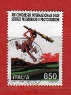 Italia °- 1996 - SCIENZE PREISTORICHE. Unif. 2273.  Usato.  Vedi Descrizione - 6. 1946-.. Republik