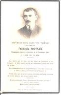 Souvenir De François Moysan. Décédé à Kérellec En 1947. - Faire-part