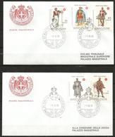 1979 SOVRANO ORDINE DI MALTA SMOM Stemmi  Crests Fdc Viaggiata, Bellissima - Malte (Ordre De)