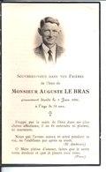 Souvenir De Monsieur Auguste Le Bras. Décédé En 1956. Photo Piriou Saint Pol De Léon. - Faire-part