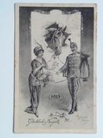 5209 Prima Guerra Pubblicitaria Militare 1914-18 Austria KUK Osterreich Ed J.P.W 1023 Weihnachten Pinx Kranzle - Guerra 1914-18