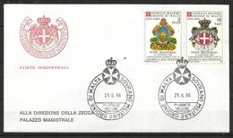 1986 SOVRANO ORDINE DI MALTA SMOM  Honduras PA  Fdc Viaggiata, Bellissima - Malte (Ordre De)