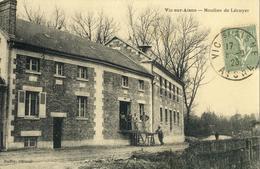 Vic-sur-Aisne .  Moulins De Lécuyer.   SUPERBE CARTE . - Vic Sur Aisne