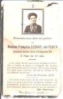 Souvenir De Françoise Aubert Née Floc'h. Décédée à Brest En 1914. - Faire-part