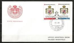 1982 SOVRANO ORDINE DI MALTA SMOM  De Mojana Fdc Viaggiata, Bellissima - Malte (Ordre De)