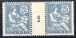CHINE Millésime Mouchon 25 C Millésime 2 De 1902 Yv 27 Neuf Avec Trace De Charnière - Neufs
